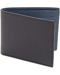 Saks Fifth Avenue - Men's Collection Bi-fold Leather Wallet - Black - Lyst
