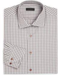 Saks Fifth Avenue - Window Pane Checked Shirt - Lyst