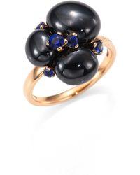 Pomellato - Blue Sapphires, Ceramic & 18k Rose Gold Ring - Lyst