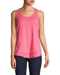 Wilt - Shrunken Mock Hem Cotton Tank Top - Lyst
