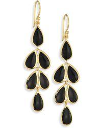 Ippolita | Polished Rock Candy? Black Onyx & 18k Yellow Gold Teardrop Cascade Earrings | Lyst