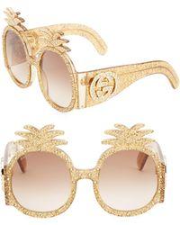 Gucci - 53mm Pineapple Sunglasses - Lyst