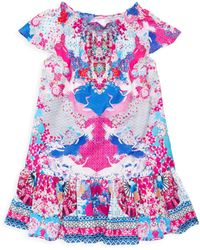 090612f516e Camilla - Little Girl s   Girl s Shirring A-line Dress - Sky Of Venus -