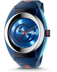 2b84ad9c08a Lyst - Gucci Sync Stainless Steel Rubber Watch in Metallic for Men