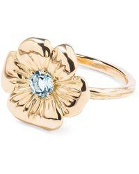 Aurelie Bidermann - Floral Pansy Ring - Lyst