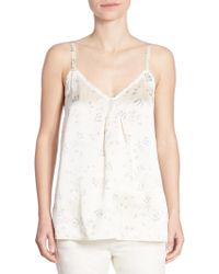 Vince - Floral-print Silk Camisole - Lyst