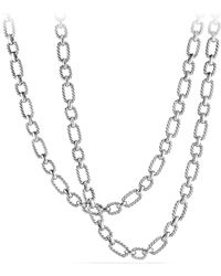 David Yurman - Cushion Link Chain Necklace With 18k Gold - Lyst