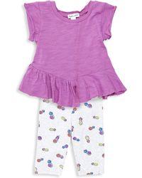 Splendid - Baby Girl's Asymmetric Tee & Pineapple Leggings Set - Lyst