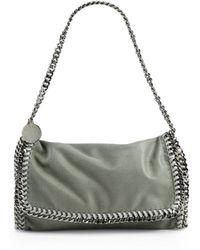 Stella McCartney | Falabella Metallic Fold-over Shoulder Bag | Lyst
