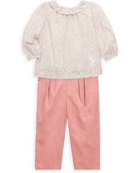 Ralph Lauren - Baby's Two-piece Floral Top And Trousers Set - Lyst