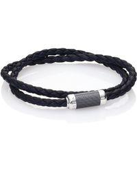 Tateossian - Leather & Sterling Silver Bracelet - Lyst