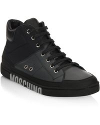 Moschino - Mid-top Lace-up Sneakers - Lyst