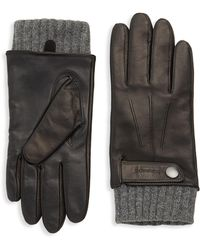 Mackage - Knitted Leather Gloves - Lyst