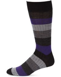 Saks Fifth Avenue | Collection Rugby Multistripe Dress Socks | Lyst