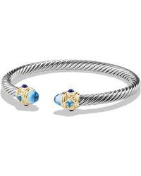 David Yurman - Renaissance Bracelet With Blue Topaz, Lapis Lazuli And 14k Gold - Lyst