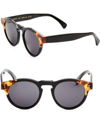 Illesteva - Leonard Split Back 48mm Round Sunglasses - Lyst