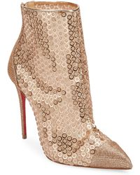 377f59b3063 Christian Louboutin Gipsy Floral-lace Red Sole Bootie in Natural - Lyst