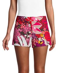 Trina Turk - Found In Translation Corbin Floral-print Shorts - Lyst