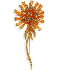 Oscar de la Renta - Dandelion Crystal Brooch - Lyst