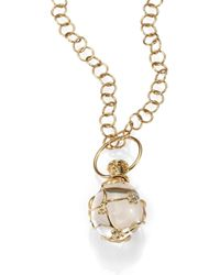 Temple St. Clair - Women's Tree Of Life Rock Crystal, Diamond & 18k Yellow Gold Medium Vine Amulet - Gold - Lyst