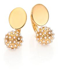 Chloé - Darcey Faux Pearl Sphere Arc Earrings - Lyst