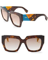 439aed00a996 Fendi 2Jours Square Acetate Sunglasses in Brown - Lyst