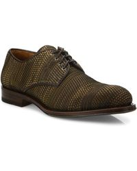 Aquatalia - Vance Woven Leather Derby Shoes - Lyst