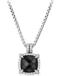 David Yurman - Châtelaine Pave Bezel Pendant Necklace With Gemstone And Diamonds - Lyst