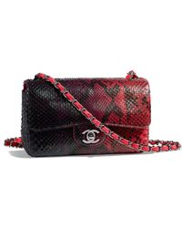 70e3313e3cfd54 Lyst - Chanel Auth Quilted Patent Leather Tweed Shw Chain Shoulder ...