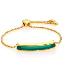 Monica Vinader - Baja Green Onyx Chain Bracelet - Lyst