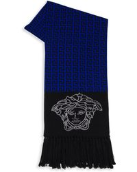 Versace - Colorblock Wool Scarf - Lyst