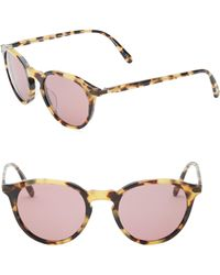 bb1d95418ab8 Oliver Peoples - Rue Marbeuf 50mm Cat Eye Sunglasses - Lyst