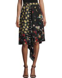 Derek Lam - Asymmetrical Mixed Print Silk Skirt - Lyst