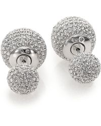 Adriana Orsini - Decadence Pave Crystal Ball Two-sided Earrings - Lyst