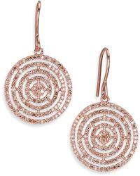 Astley Clarke - Icon Aura Grey Diamond & 14k Rose Gold Drop Earrings - Lyst