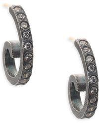 Rene Escobar - Cocco Diamond & Sterling Silver Small Hoop Earrings - Lyst