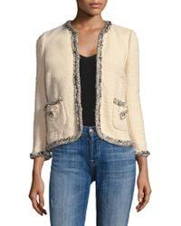 Rebecca Taylor - Braided Tweed Jacket - Lyst