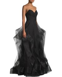 Basix Black Label - Strapless Beaded Gown - Lyst