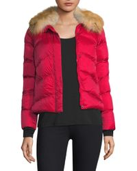 Post Card - Quilted Fur Jacket - Lyst