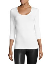 Majestic Filatures - Soft Touch Scoopneck Tee - Lyst