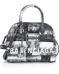 Balenciaga - New York Skyline Leather Bag - Lyst