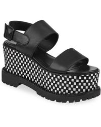 Kendall + Kylie - Cady Leather Slingback Platform Sandals - Lyst