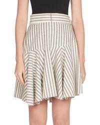 Loewe | Striped Poplin Flounce Skirt | Lyst