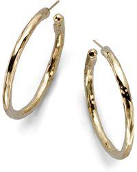Ippolita - Glamazon 18k Yellow Gold #3 Hoop Earrings/1.5 - Lyst