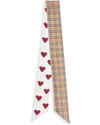 Burberry - Heart & Mini Check Silk Ribbon - Lyst