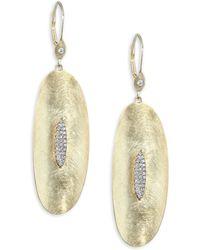 Meira T - Diamond & 14k Yellow Gold Drop Earrings - Yellow Gold - Lyst