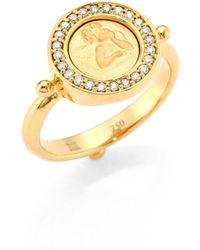 Temple St. Clair - Angel Diamond & 18k Yellow Gold Ring - Lyst