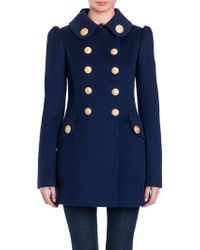 Dolce & Gabbana - Military Double-breasted Wool Coat - Lyst