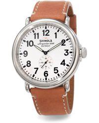 Shinola - Runwell Stainless Steel Watch - Lyst