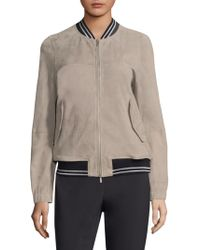 Peserico - Suede Bomber - Lyst
